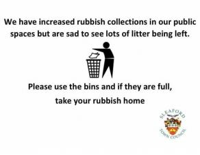 Please take your litter home!